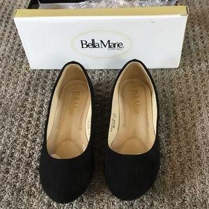 Black suede ballet flat size 1